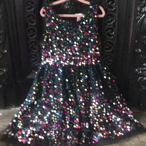 Cat&Jack size 6 PARTY dress all over sequins